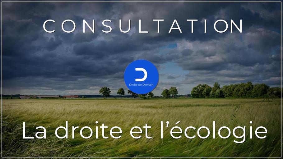 La droite et l'écologie – Résultats de notre consultation